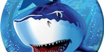 Shark Splash Party Paper Plates 23cm 8pk