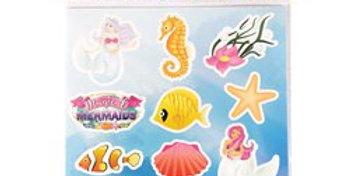 Mermaid Stickers 1 sheet