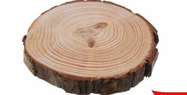 Wooden decorative slice 11cm