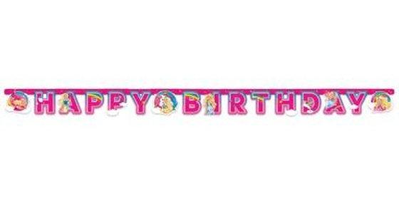 Barbie birthday letter banner