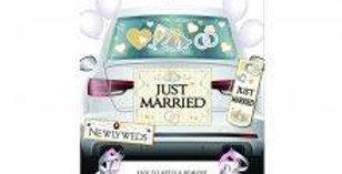 Bride & Groom Car Decoration Kit