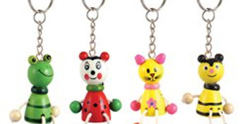 Wooden Animal Keyring (each)