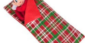Naughty Elf Patterned Sleeping Bag (each)
