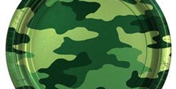 Camouflage Plates - 23cm Paper Party Plates (8pk)