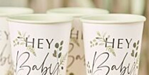 Botanical Hey Baby Shower Cups