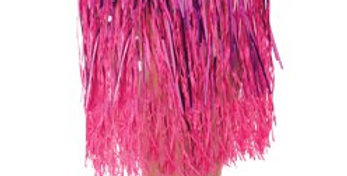 Adult Hula Grass Skirt - Pink Tinsel
