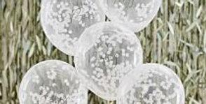 Hey Baby Shower Confetti Balloons