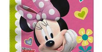 Minnie Mouse Party 2ply Paper Napkins - 33cm (20pk)