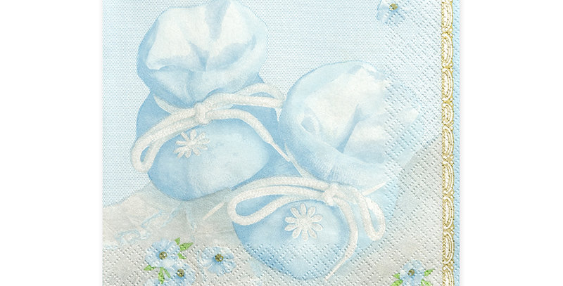 3-layer napkins Bootees, shades of blue, size 33x33 centimeters.  20pk.