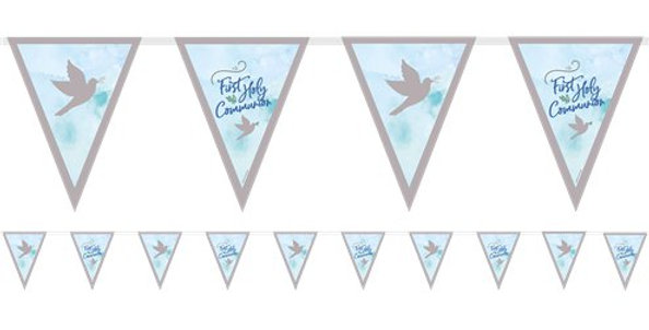 Blue First Communion Pennant Bunting - 4m (each