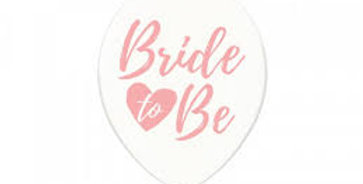 Balloons 30cm, Bride to be pink , Crystal Clear 6pk