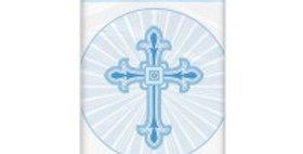 Blue Radiant Cross Plastic Tablecover
