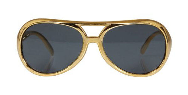 Gold Rock Star Glasses