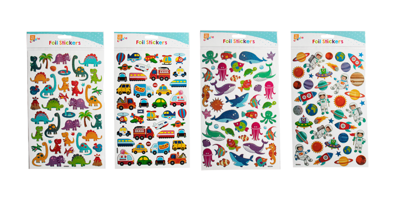 Boys Holographic Stickers 34.8cm x 19.5cm x 0.2cm