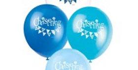 12'' Christening Blue Balloons 8CT.