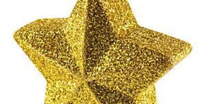 Balloon Weight Star Gold Holographic