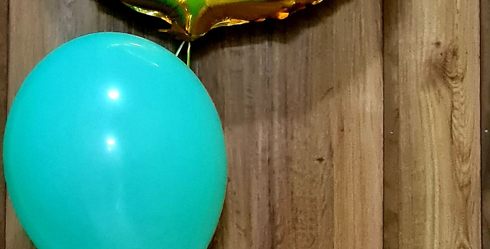 """Number foil balloon  34"""" . With 3 printed latex 12"""" balloons. Including helium"""