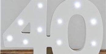 Up In Lights Milestone Numbers - 40 (each)