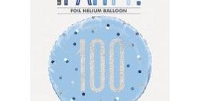 Blue Birthday Glitz Age  Foil Balloon - 18'' (each)