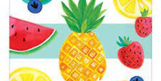 Aloha Fruit Napkins. matching tableware available. 16 x Paper Napkins. use with