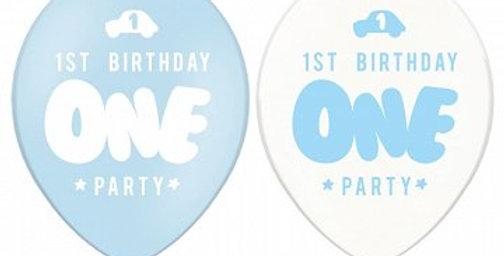 pastel blue one party 12'' 6pk