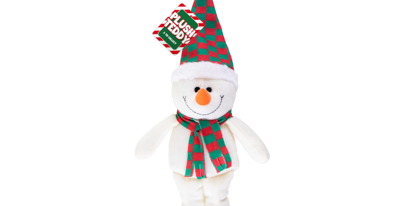 This cute Christmas Plush Character Decorations are constructed from 100% polyes
