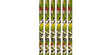 Football Pencils with rubber(6pk)