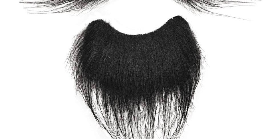 Beard + Tash Set Black