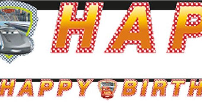 Disney Cars 3 - Happy Birthday Banner (each