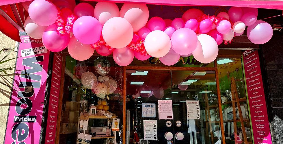 Balloon Garland based on pinks 3m long