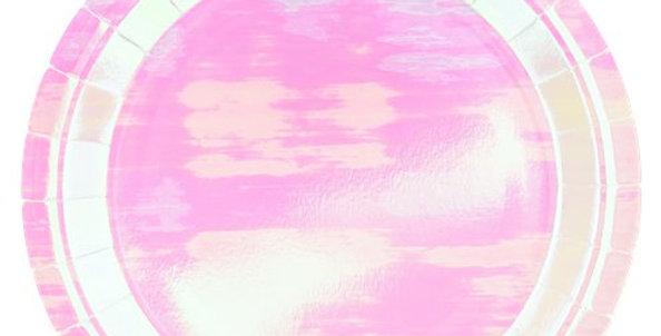Iridescent Paper Plates - 23cm 8pk