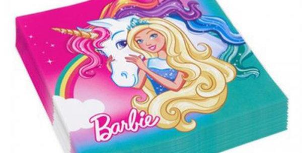 Barbie paper napkins 16pk
