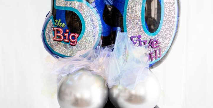Age supershape balloon centrepiece