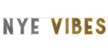 NYE Vibes Letter Banner - 3.6m (each)