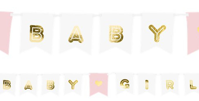 Pink Baby Girl Banner - 1.75m (each)