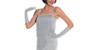 Silver Flapper - Adult Costume (each