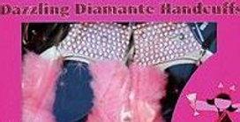 Pink Diamante Hand Cuffs