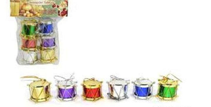 Mini drum decoration  6 per pack