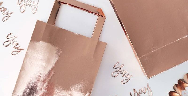 ROSE GOLD PARTY BAGS - PICK & MIX  5pk