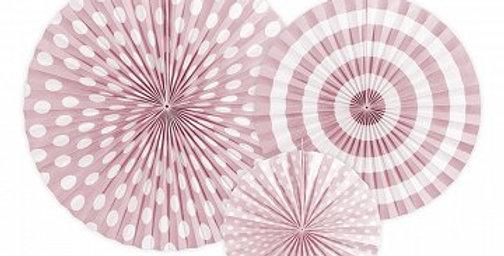 3 pk pink decorative rosettes