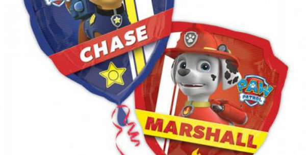 2 sided paw patrol supershape foil balloon