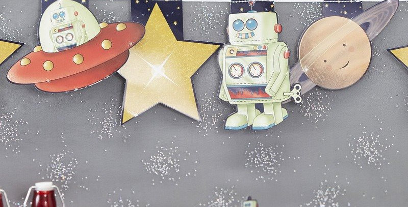 ROBOT & SPACESHIP BUNTING SPACE ADVENTURE PARTY  8.99