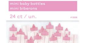 Mini Plastic blue Baby Bottles - 24ct