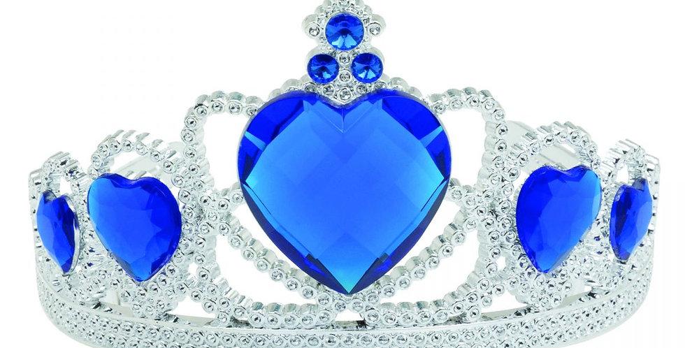Blue jewellery plastic tiara