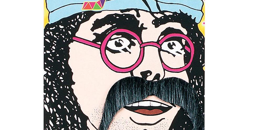 70s moustache black