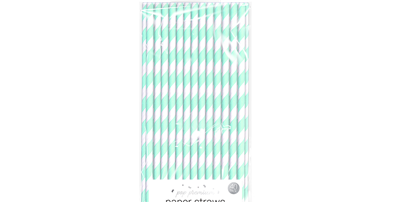 Bright Paper Straws - 40 Pack