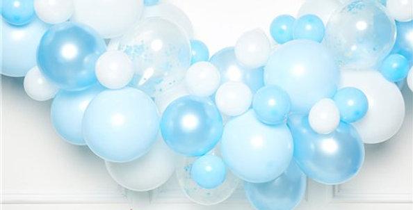 Blue Latex Balloon Arch Garland