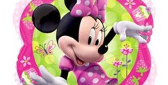 18''Foil Balloon Shape Minnie Portrait polka dot
