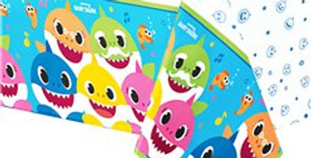 Baby Shark Paper Tablecover - 1.37m x 2.6m (each