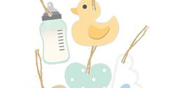 Baby Wishes Wooden Tags (5pk)